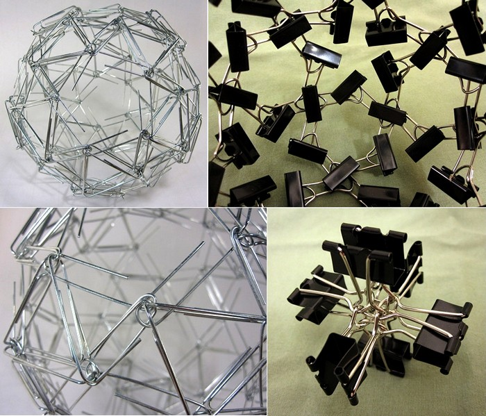 Арт-объекты из разных мелочей от скульптора-математика Закари Абеля (Zachary Abel)