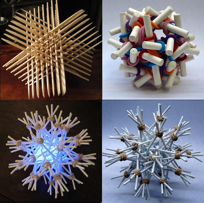 Скульптуры из канцелярских принадлежностей аспиранта кафедры математики Закари Абеля (Zachary Abel)