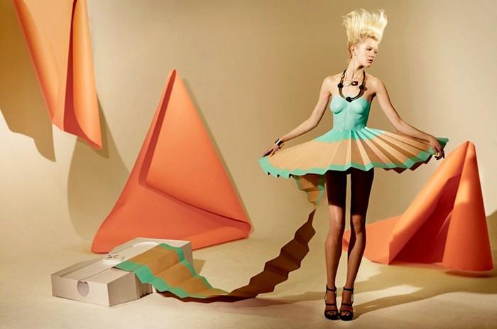 Коллекция дизайнерских платьев из бумаги. Фотосессия для Madame Magazine