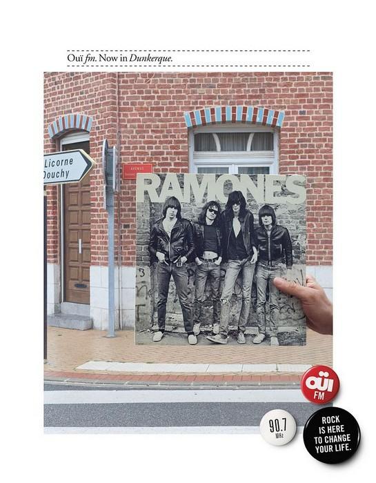 Игры с обложками для пластинок в стиле рок. Фотопроект для радиостанции Oui FM