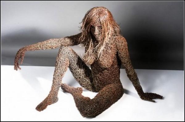 Проволока + цепи + талант = скульптуры от Mattia Trotta