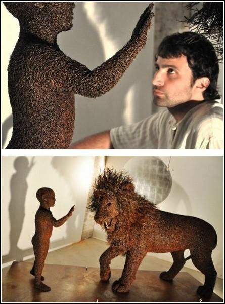 Проволочные скульптуры от Mattia Trotta