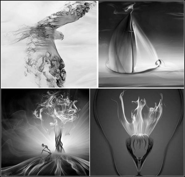 Smoke art в фотоколлажах Мехмета Озгура (Mehmet Ozgur)