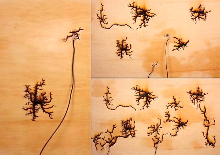 Как сделать рисунок молнии на дереве