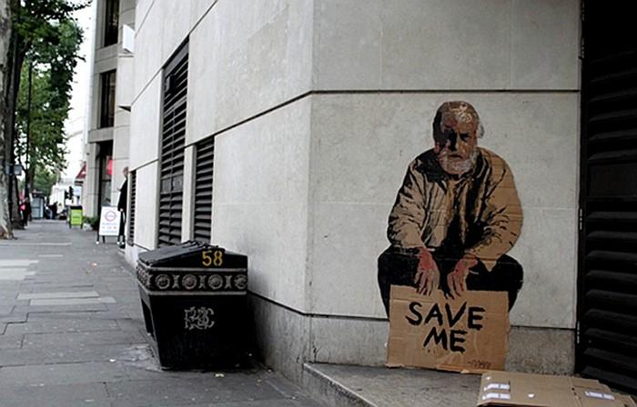 Картонные фигурки людей на улицах города. Грустный арт-проект Майкла Аарона Уильямса
