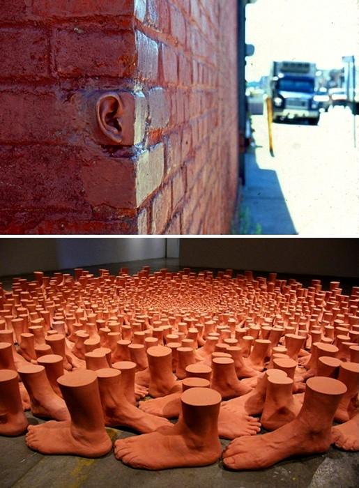 И у стен есть уши. Юмор и философия в скульптурах Майкла Бейтза