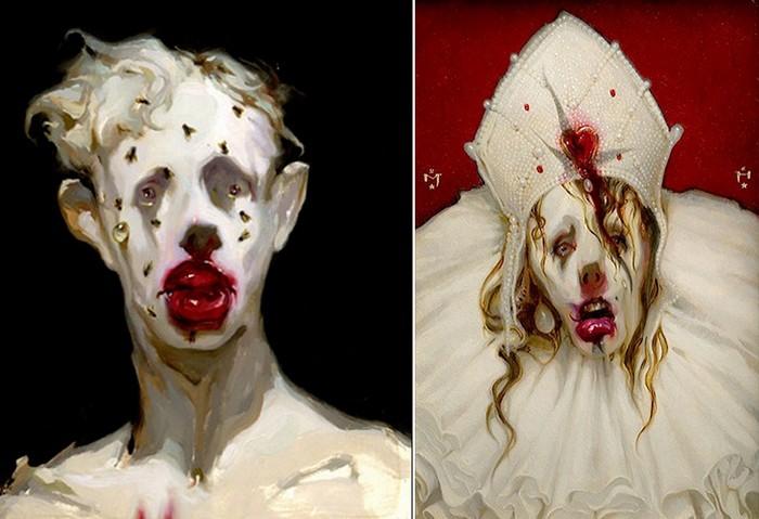 Потусторонняя живопись Майкла Хуссара, одновременно и сочная, и мрачная