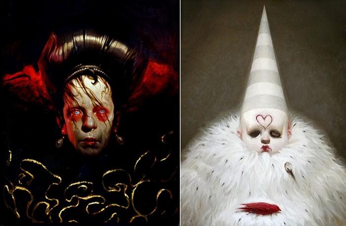 Отражение кусочков реальности в мрачных и сочных картинах Майкла Хуссара