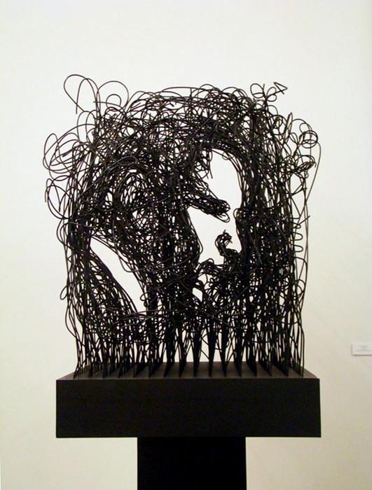 Проволочная инсталляция-портрет от Майкла Мерфи (Michael Murphy)