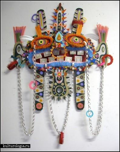 Клей, ножницы, цветная бумага. Работы художника и дизайнера Michael Velliquette