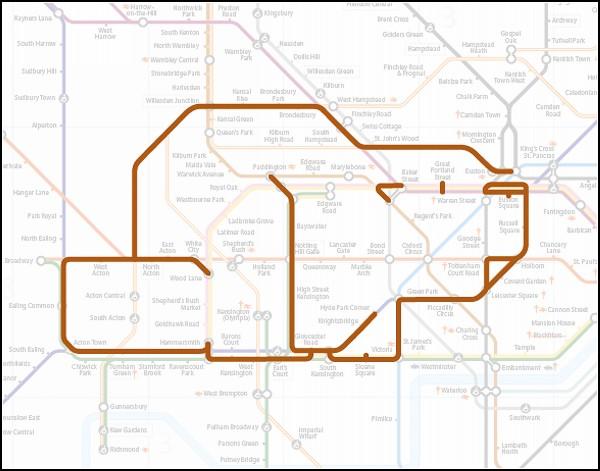 Звери в лондонском метро.  Креативный арт-проект Поля Миддлвика (Paul Middlewick) .