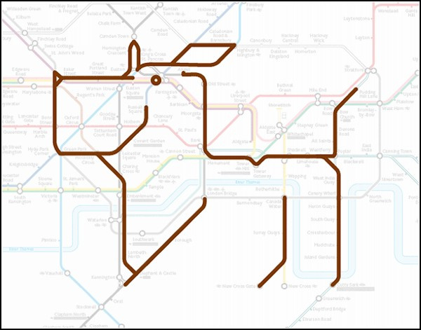 Animals on the underground. Забавный арт-проект в лондонском метро