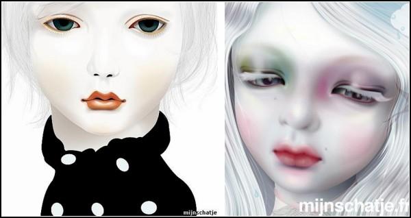 Грустные куклы, нарисованные Mijn Schatje