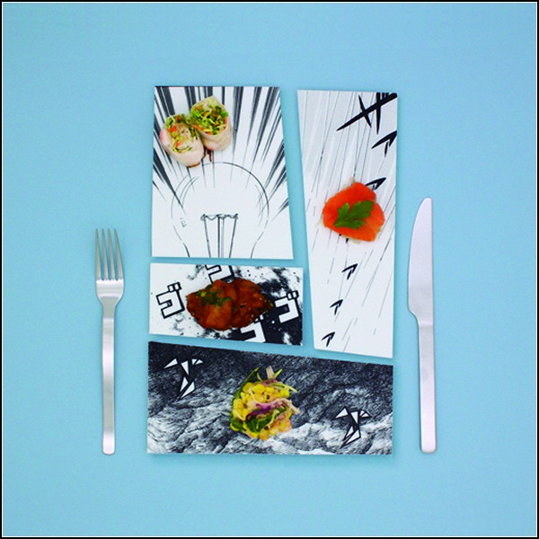 Креативная посуда-паззл  Manga Plates