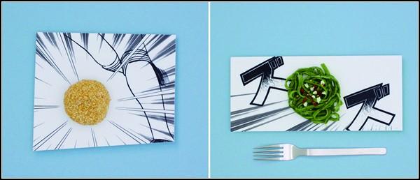 Арт-посуда Manga Plates, построенная на комиксах-манге