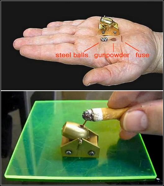 как сделать мини пушку дома видео: