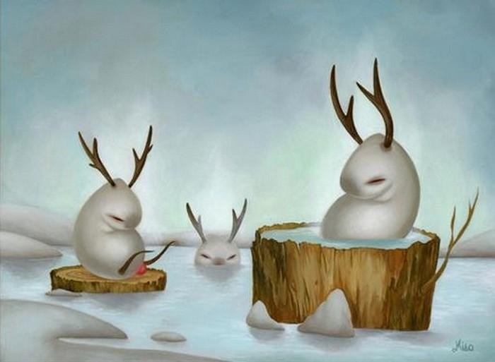 Американская художница Miso рисует животных-мутантов