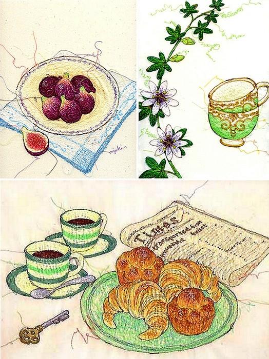 Вышитые картины-иллюстрации Миюки Сакаи (Miyuki Sakai)