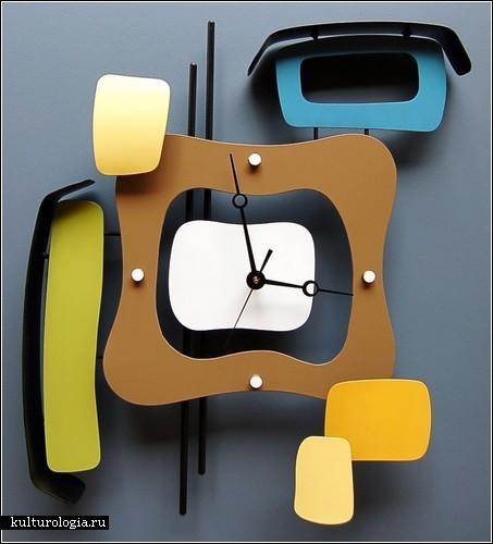 Креативные часы Modern Retro clock