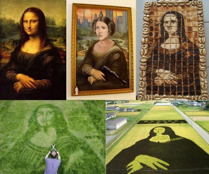 Мона Лиза: обзор пародий, воплощений и образов