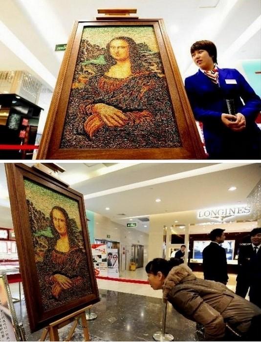 Мона Лиза из драгоценных камней