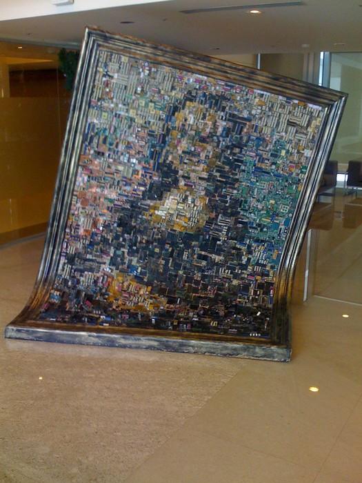 Мона Лиза из компьютерных чипов