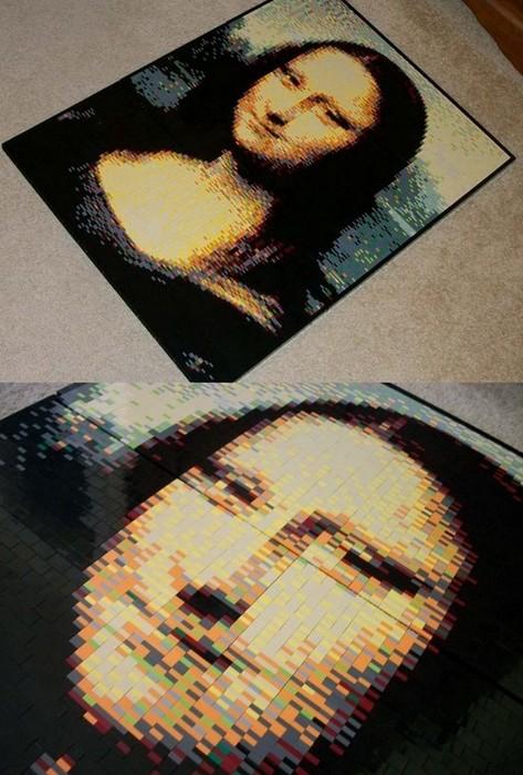 Мона Лиза в мозаике из Лего, автор Eric Harshbarger