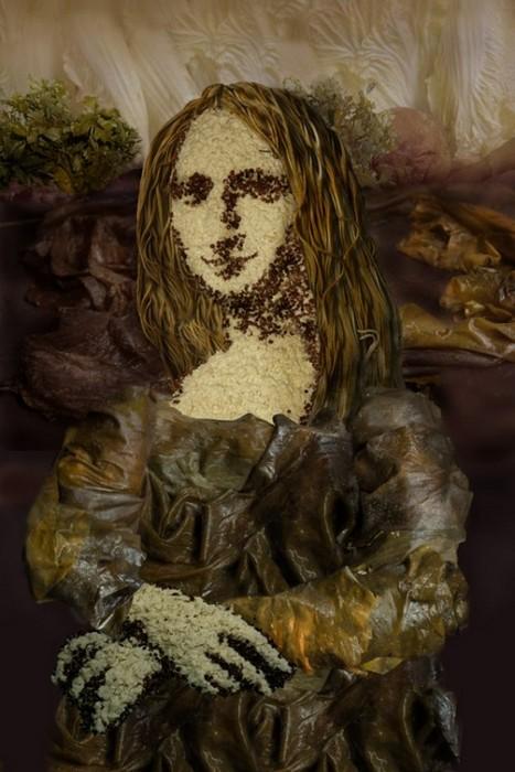 Мона Лиза из риса, морской капусты и тофу