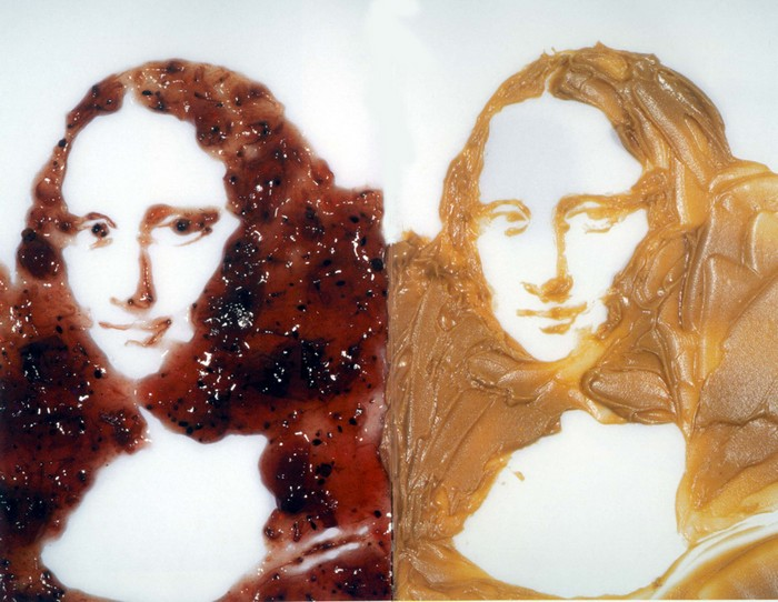 Мона Лиза из масла и джема