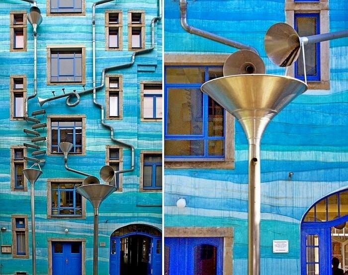 Kunsthofpassage Funnel Wall, удивительное музыкальное здание в Германии