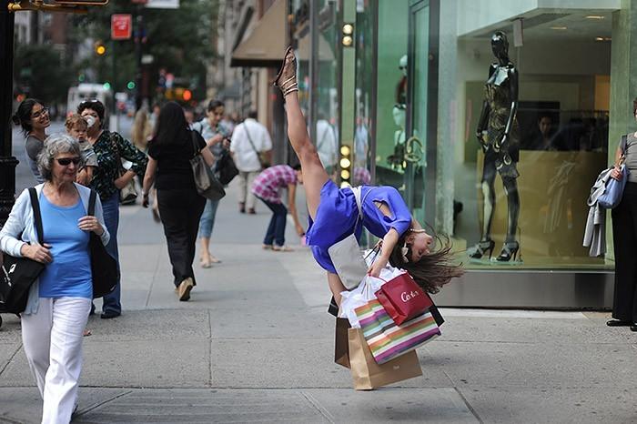 Нью-Йоркские танцоры в повседневных ситуациях. Арт-проект Dancers Among Us