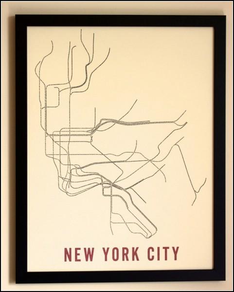 Нью-Йоркское метро в типографике. Проект Typographic Transit Maps