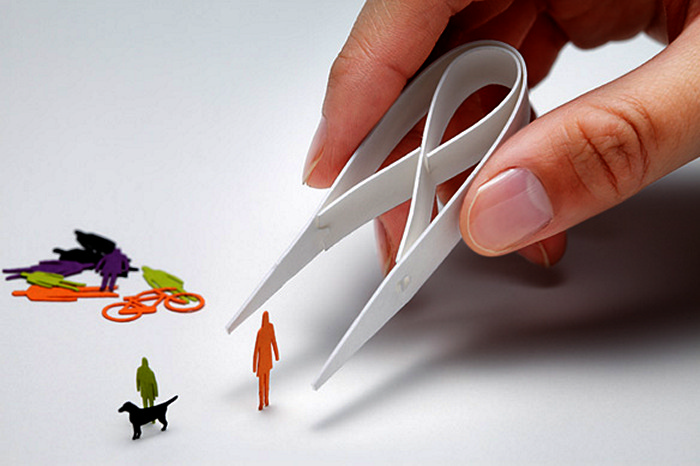 Разноцветные бумажные инсталляции от Мокеи Терада (Mokei Terada)