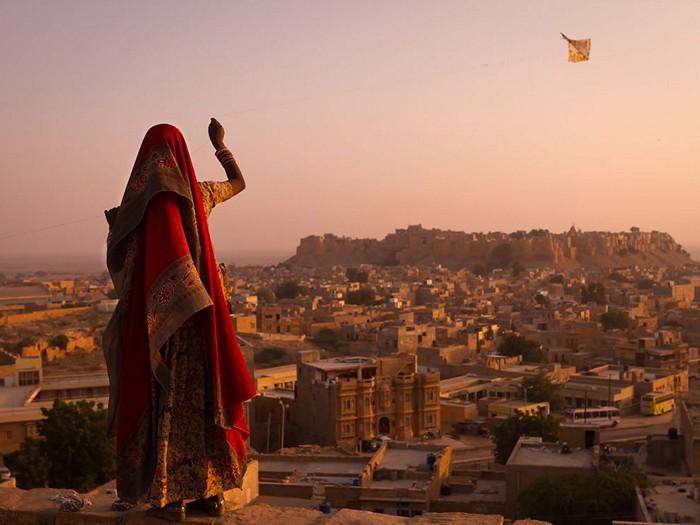 Girl With Kite, India