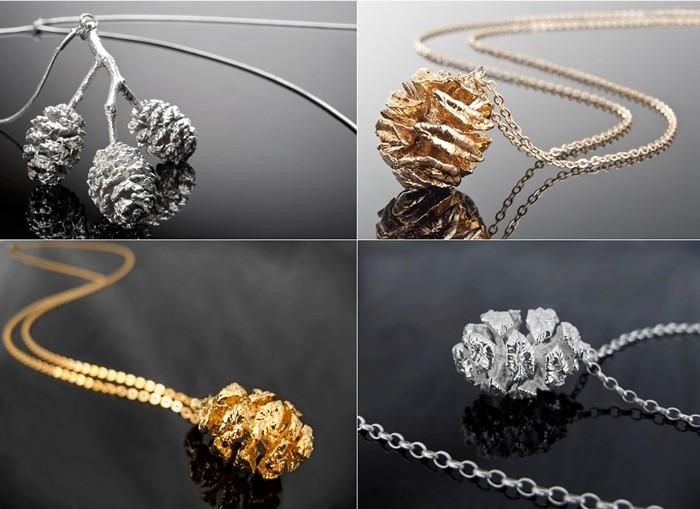 Серия Nature Preserve: украшения из настоящих даров природы, покрытых серебром и золотом