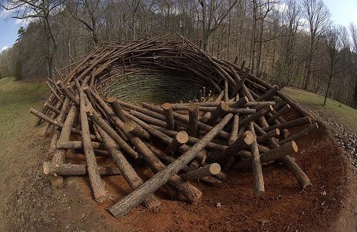 Инсталляция The Nest. 80-тонное гнездо от Нильса Удо (Nils-Udo)