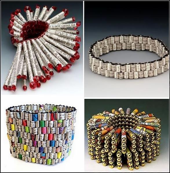 Бумажные браслеты и ожерелья от Holly Anne Mitchell