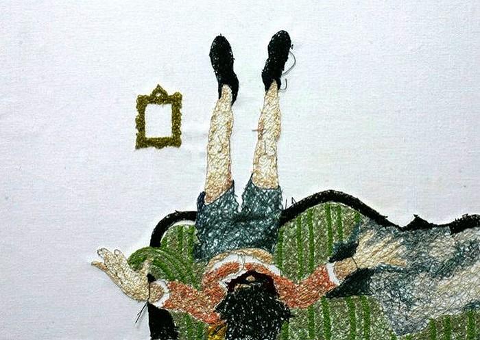 Новый взгляд на вышивку. Вышитые портреты Nike Schroeder
