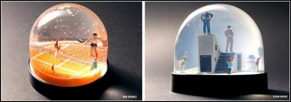 Зимняя сказка в стеклянном шаре