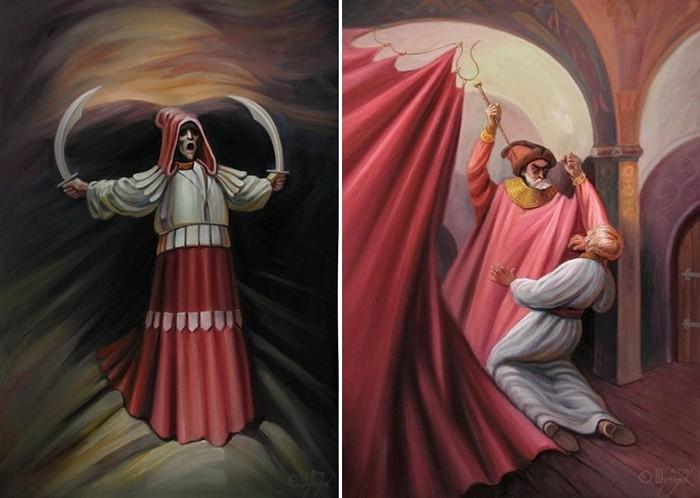 Картины с двойным смыслом. Оптические иллюзии в живописи Олега Шупляка