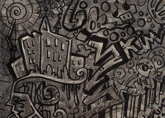 Картины Alessandro Ricci, нарисованные уличным смогом