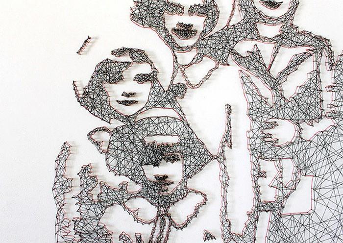 Картины-паутины из ниток и иголок. Творчество семейного дуэта L-able