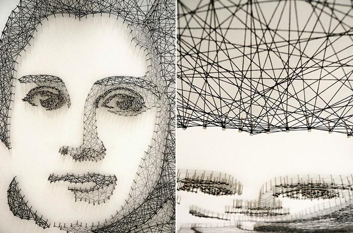 Создание портрета-инсталляции заняло около месяца