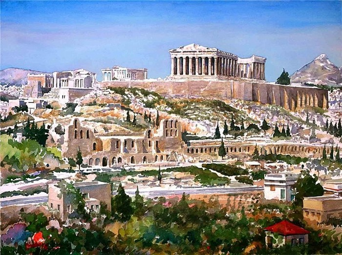 Греческие акварели Пантелиса Зографоса (Pantelis Zografos)
