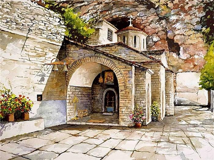 Красота Греции в акварели Пантелиса Зографоса (Pantelis Zografos)
