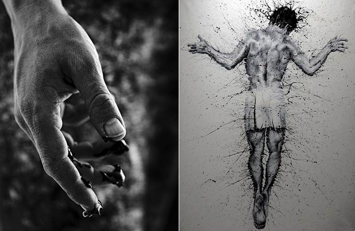 Картины пальцами. Живопись Паоло Троило (Paolo Troilo)
