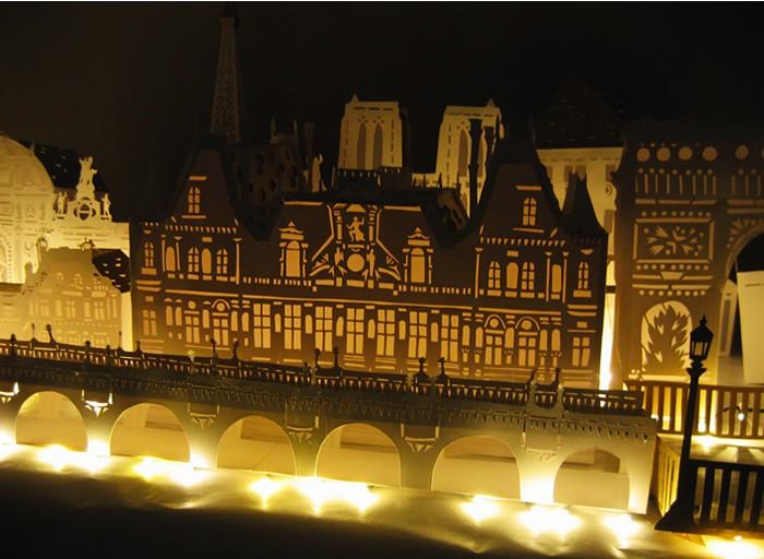 Бумажные города-раскладушки Матильды Нивет (Mathilde Nivet)