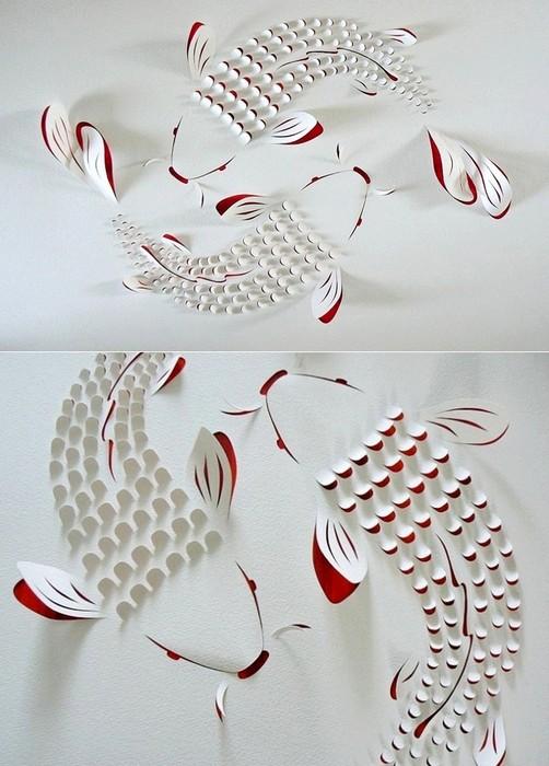 Геометрический paper art от Лизы Родден
