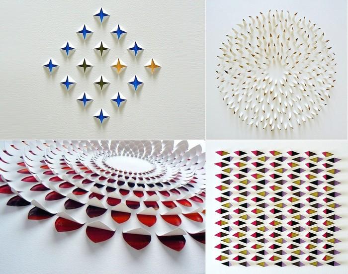 Геометрический paper art от