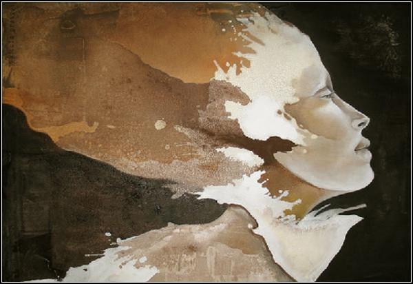 Женственность в абстрактных портретах от Паскаль Пратт (Pascale Pratte)